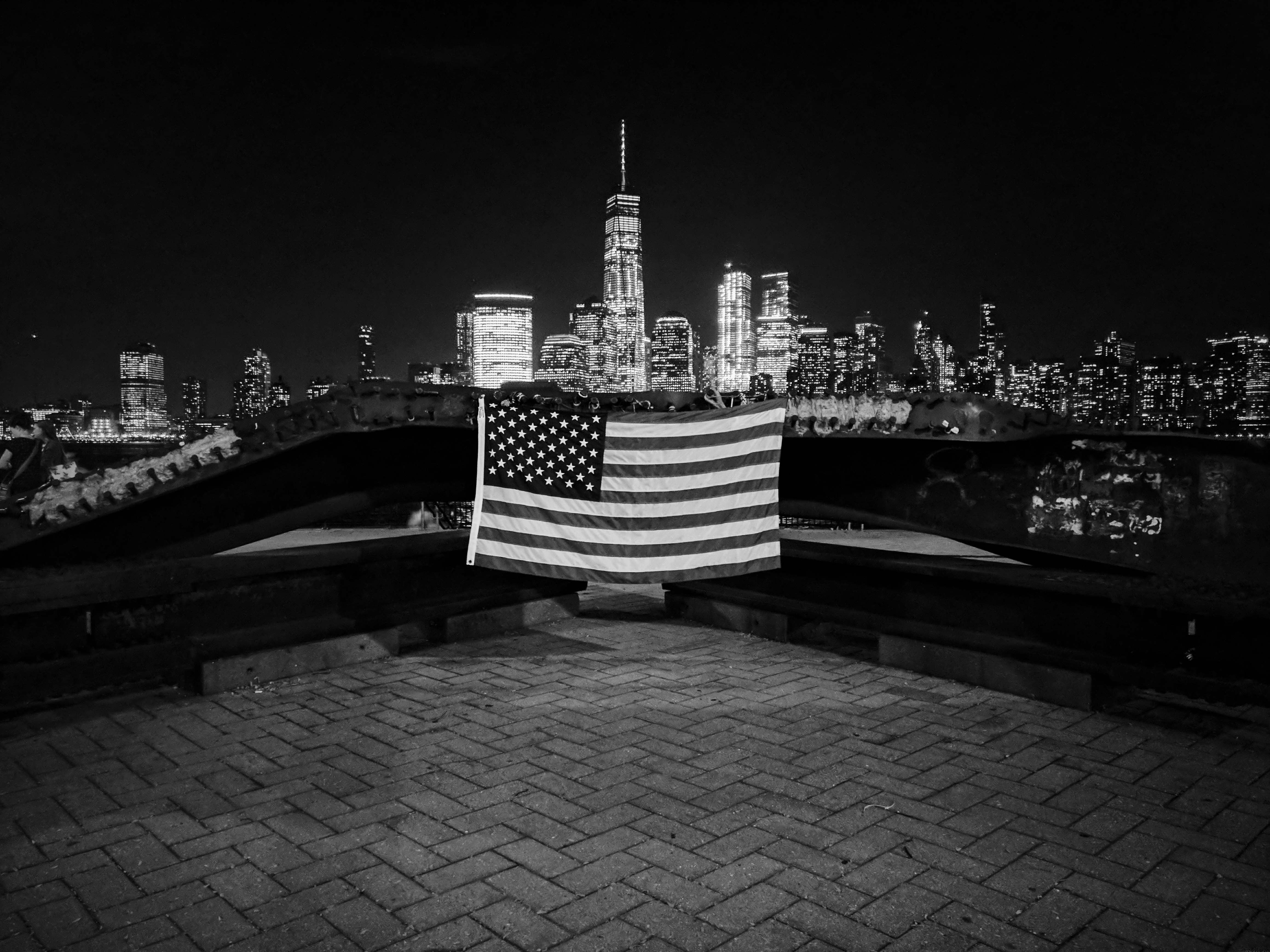 NYC seen from NJ 911 monument